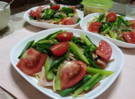 サラダスパゲティ|takakoさんの日誌写真
