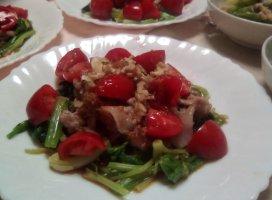 ほうれん草と豚肉のホ|takakoさんの日誌写真