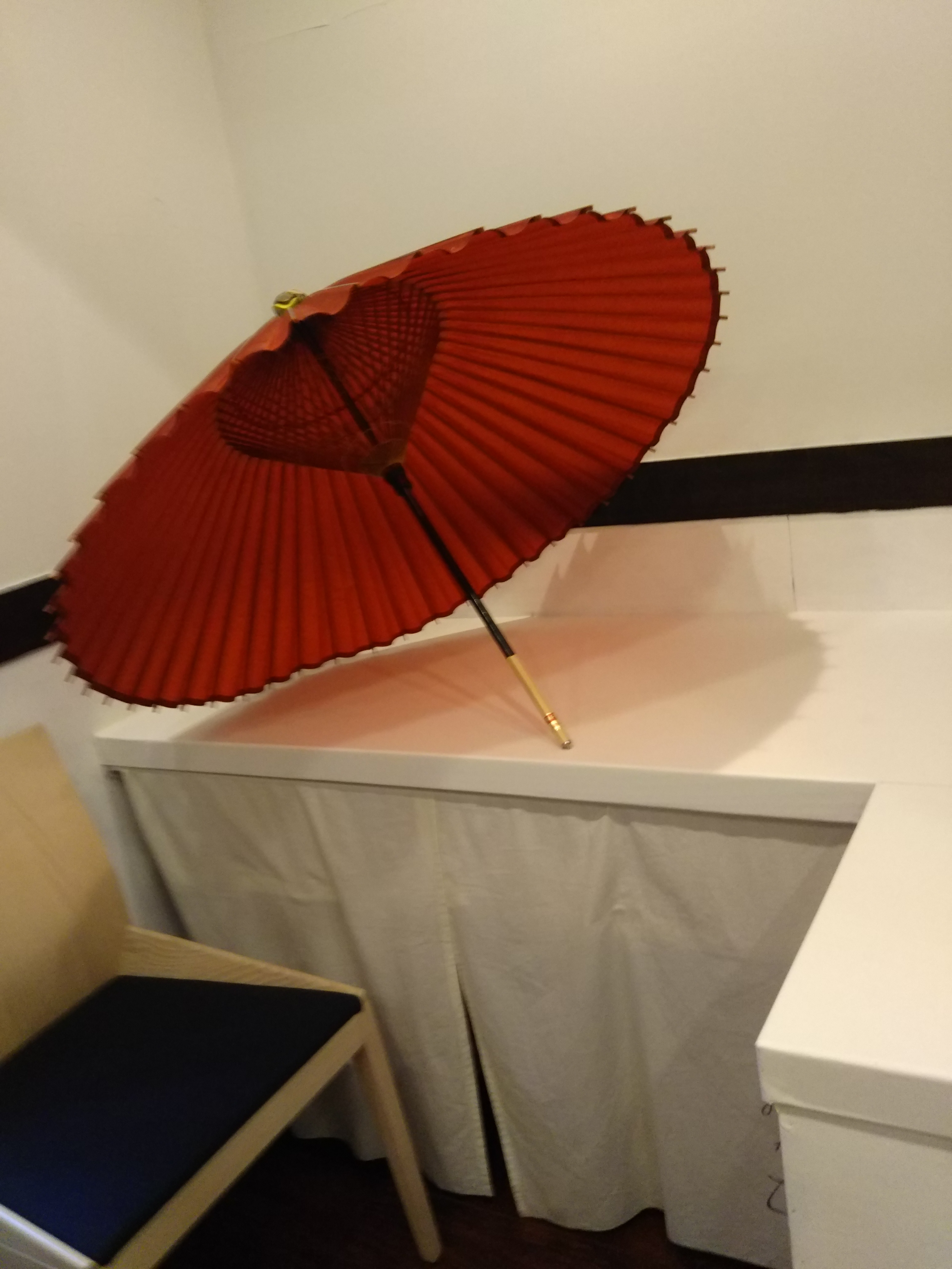 人妻さん日誌:部屋に<br /> 傘を飾るだけ